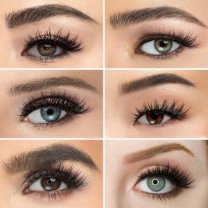 Natural silk eyelashes fake lashes long makeup 25mm eyelash for beauty