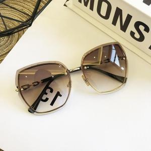 High Qulity women's Rimless Square Sunglasses Metal 2019 shades Fashion Luxury Sexy Sunglasses Female Ladies Brown Eyewear