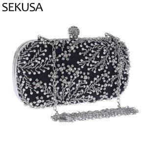 Luxury Handbag Embroidery Evening Bag Wedding Bag for  Bridal Shoulder Bag Women's Clutch Bag Crystal Pearl Clutch Purse