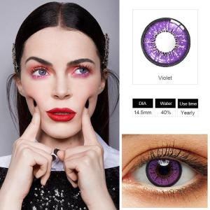 Colored Contacts Cosplay Halloween Colorful Contact Lenses Yearly Purple Contact Lenses for Eyes Contacts With Color Contacts