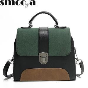 SMOOZA 2019Fashion Bag for Womens Quality PU Leather women Crossbody bag Jelly color Portable Shoulder Messenger Bag Travel Tote