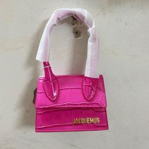 Jacquemus Mini Crocodile Print Satchel Pocket Bag Stone Print Shoulder Bags Pu Leather Crossbody Strap Small Tote Bag Clutch