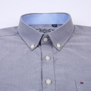 Men's Summer Casual Short Sleeve Thin Oxford Shirts Contrasting Neckband Breath Premium Quality Regular-fit Button-down Shirt