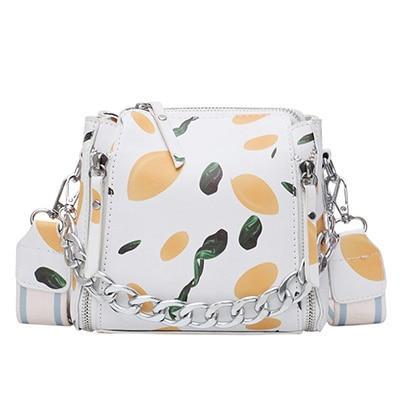 Quality Leather Fashion printing Crossbody Bags For Women Designer Small Handbags Chain Shoulder Messenger Bag Purses Hand Bag