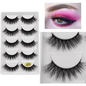 New 5 pairs eyelashes hand made 3d mink lashes natural long soft mink eyelashes full strip lashes makeup false eyelashes cilios