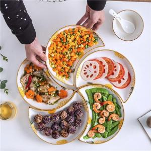 Assorted Tableware Set Combination Ceramic Creative Shaped Snack Fruit Plate Household Dishes Plate Nordic New Year Dishes Plate
