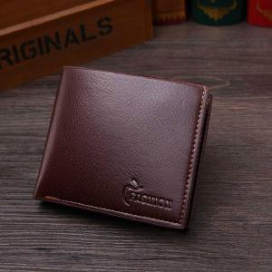 Men PU Leather Bifold Wallet Masculina Billetera Hombre Portafoglio Credit Card ID Holder Cash  Purse Clutch Wallets Slim Casual