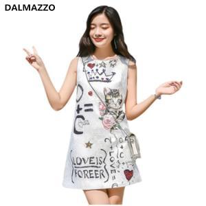 Plus Size Women Fashion Sleeveless Print Letters Sexy Mini Dress 2020 Summer Designer Clothes for Woman Runway Vest Slim Dresses