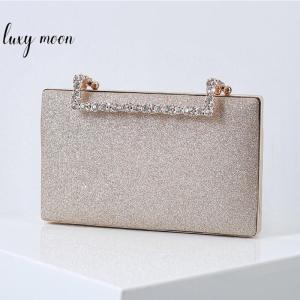 Glitter Wedding Clutch Bag for Women Luxury Diamond Party Evening Bag Chain Shoulder Bag Elegant Clutch Purse and Handbag ZD1904