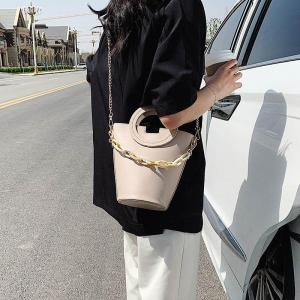[BXX] PU Leather Crossbody Bucket Bags For Women 2020 Spring Fashion Shoulder Bag Female Design High Capacity Handbags HL744