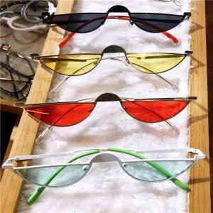 Retro Small Oval Sunglasses Women Female Vintage Hip Hop Black Clear Glasses Retro Sunglasses Luxury Brand Men's Sunglases NX