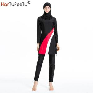 Sun Protection Women Swimsuits Modest Muslim Swimwear Burkini Surfing Mixed Color Conservative Bathing Suit Beach Sportswear