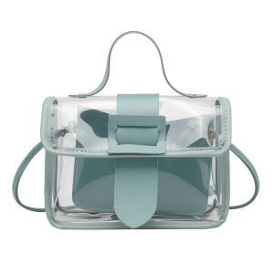 New Fashion Ladies Transparent Jelly Small Bag Women Big Buckle Cross-body Bag Shoulder Messenger Bags Travel Handbag For Womens