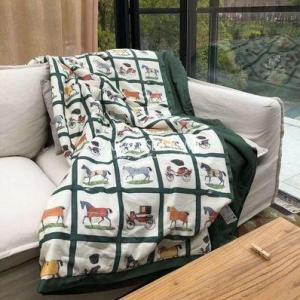 Washed air condition quilt Solid Colors Embroidery Summer Comforter Bedding Sofa Sleeping Quilt Cool Throw Blankets Twin Double