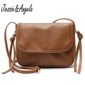 Jiessie&Angela New Vintage Crossbody Bag Women Leather Handbag Fashion Women Bags Small Purse Lady's Shoulder Bolosa Wholesale
