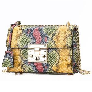 European Snake Print Small Handbag Women's Designer Luxury Female Square Bag 2020 New Quality PU Leather Shoulder Messenger Bags