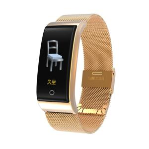 2018 Newest Metal Smartn watch Wristband waterpoof Blood Pressure Heart Rate Monitor Men Women Fitness Watch Pedometer watches