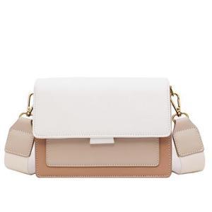 Contrast color Leather Crossbody Bags For Women 2020 Travel Handbag Fashion Simple Shoulder Simple Bag Ladies Cross Body Bag