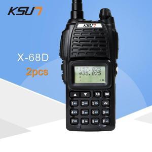 (2 PCS)KSUN UV68D Ham Two Way Radio Walkie Talkie Dual-Band Transceiver UHF/VHF Double Frequency BUXUN X-68D(Black)