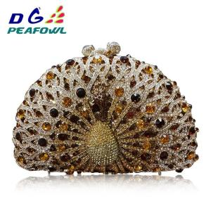 Luxury Peacock diamond Crystal women Evening Bag party purse pochette soiree Women Chain handbags wedding Bag Day Clutches