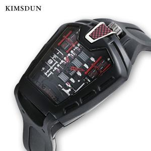2019 KIMSDUN Men's Fashion Trend Personality Classic Quartz Watch Luxury Racing Free Silicone Strap Clock Casual Sports Relogio