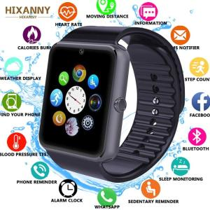 2019 Smart Watch GT08 Clock Sync Notifier Support Sim TF Card Bluetooth Connectivity for Android hua we Apple