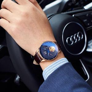 Bestdon Luxury Brand Men's Mechanical Watch Fully Automatic Skeleton Flywheel Watches Waterproof Large Dial Hot Sale Wristwatch