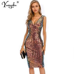 Sexy Vintage Sequins club outfits summer dress women elegant bodycon plus size woman dress Party dresses clothes vestidos 2020
