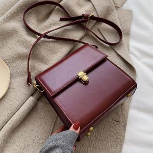Simple Style Vintage Leather Crossbody Bags For Women 2019 Lock Luxury Shoulder Messenger Bag Female Travel Handbags and Purses