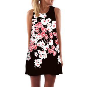 BHflutter Flroal Print Chiffon Dress Women 2020 New Casual Mini Summer Dress Ladies Elegant A-line Boho Beach Dresses Vestidos