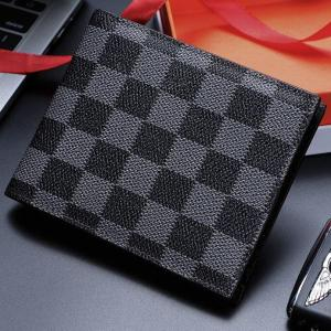 Luxury PU Leather Men Wallets Credit Card Holder Photo Holder Large Capacity Retro Short Bifold Wallet Money wallets Clutch Bag