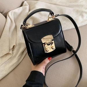 High Quality Pu Leather Handbags 2020 New Wild Texture Square Shoulder Messenger Bags Fashion Portable Women Small Crossbody Bag