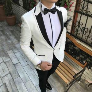 Custom Made Grey Suit Men 2020 Peaked Designs Men Attire for Wedding Groom Tuxedo Costume Homme Mariage Terno Masculino 2Piece