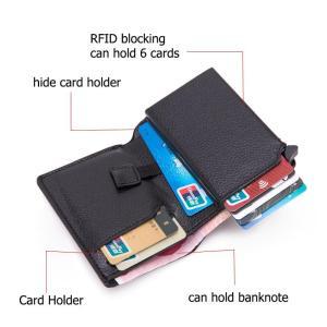 BISI GORO Men Rfid Slim Coin Smart Wallet Purse Card Holder Magic PU Leather 2020 New Small Money Bag Women Carbon Fiber Wallets
