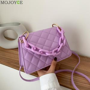 Chic Women Small Messenger Bag Simple Classic Texture Creative Design Leather Daily Candy Shoulder Crossbody Handbags