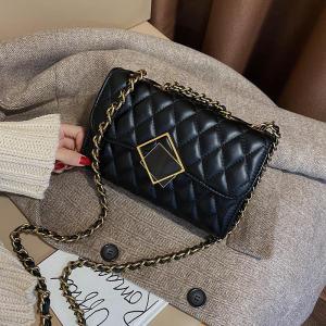 Women Handbag 2019 New Korean Fashion Casual Plaid Chain Shoulder Messenger Bag Famous Classic Bran Designer Crossbody Bag