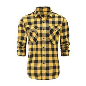 Men Plaid Shirt Camisas Social 2021 Autumn Men's Fashion Plaid Long-Sleeved Shirt Male Button Down Casual Check Shirt