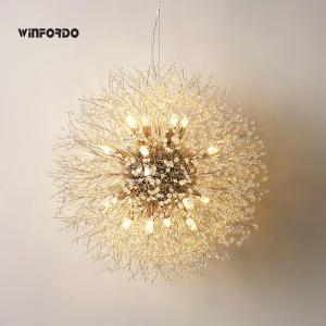2020 Modern Crystal Dandelion Chandelier Lighting Pendant Lamp For Living Room Dining Room Home Decoration WF-P12