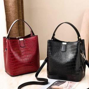 WENYUJH Famous Brand Bags Women Leather Handbags 2019 Luxury Ladies Hand Bags Purse Fashion Retro Alligator Shoulder Bags