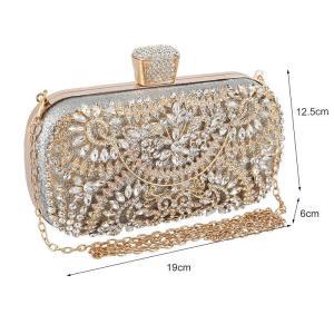 Diamond Evening Clutch Bag For Women Wedding Golden Clutch Purse Chain Shoulder Bag Small Party Handbag With Metal Handle ZD1397