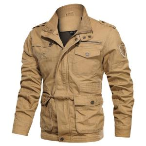 2019 New Autumn Winter Military Jacket Men Casual Outdoor Mens Jackets And Coats Multi-pocket Mens Jackets Plus Size 5XL