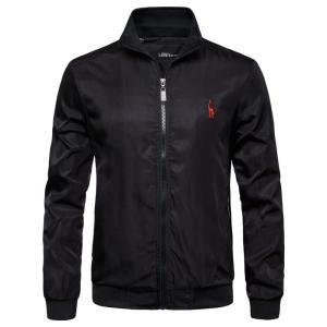 2019 New Autumn Winter Stand Colar Zipper Jacket Men Streetwear Bomber Jacket Windbreaker Mens Basic Jackets US Size S-XXL