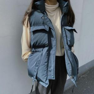 Winter Spring  2020 Korean Version of Loose Thickening Before Short and Long Waist Cotton Waistcoat Women Puffer Jacket In Stock