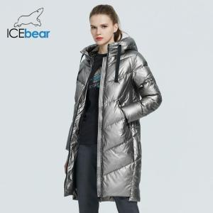 ICEbear 2020 new hooded winter women's  jacket fashion casual slim long warm cotton coat brand ladies parkas GWD20302D