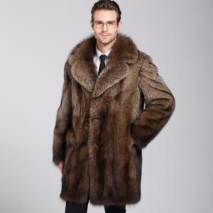 Brown faux mink leather jacket mens winter thicken warm fur leather coat men loose jackets jaqueta de couro fashion