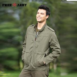 Brand Quality Mens jackets Army Green Stand Collar Jackets Zipper Regular Blank Autumn Jackets And Coats Men's Clothing MS-623