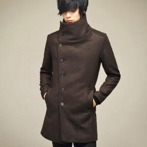 Winter men korean style slim fit trench coat long jacket men punk hip hop overcoat gothic nightclub wool coat stage clothes