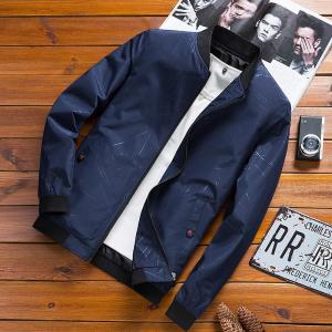 2019 Brand Jacket Men High Quality Slim Zipper Coats Male Solid Jackets and Coats Casual Mens Outwear Overcoat Printing Jaqueta