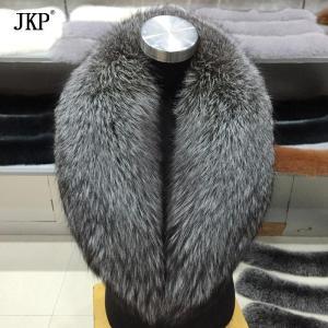 Winter Women Real silver Fox Fur Collar Fur Scarf Neck Warmer Wrap