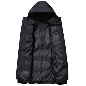 2019 Winter Mens Jackets Casual New Hooded Thick Padded Mens Jacket Coats Warm Zipper Slim Tops Outwear Plus Size 4xl JK18045